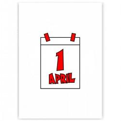 """Холст с принтом """"Первое апреля"""" (30x40 cм)"""