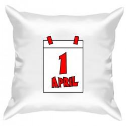 """Подушка с принтом """"Первое апреля"""""""