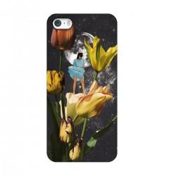 """Чехол для Apple iPhone с принтом """"Девушка и Вселенная"""""""