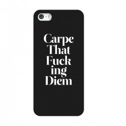 "Чехол для Apple iPhone с принтом ""Carpe That Fucking Diem"""