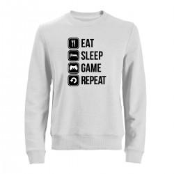 """Свитшот с принтом """"Eat, sleep, game, repeat"""""""