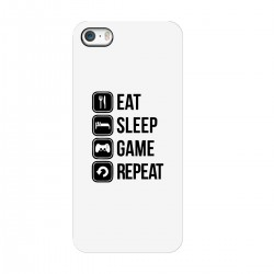 "Чехол для Apple iPhone с принтом ""Eat, sleep, game, repeat"""