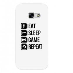 """Чехол для Samsung с принтом """"Eat, sleep, game, repeat"""""""