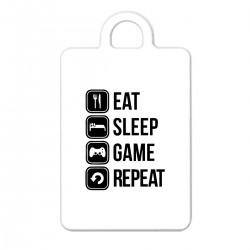 """Брелок с принтом """"Eat, sleep, game, repeat"""""""