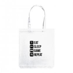 """Сумка холщовая с принтом """"Eat, sleep, game, repeat"""""""