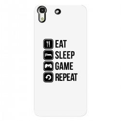 "Чехол для HUAWEI с принтом ""Eat, sleep, game, repeat"""