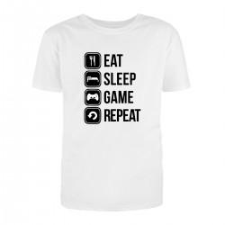 """Футболка с принтом """"Eat, sleep, game, repeat"""""""