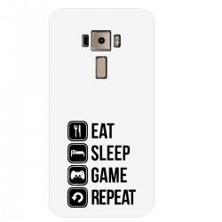 """Чехол для Asus с принтом """"Eat, sleep, game, repeat"""""""