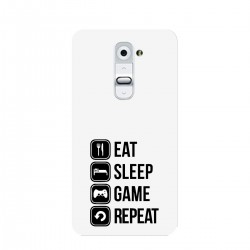"Чехол для LG с принтом ""Eat, sleep, game, repeat"""