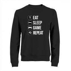 """Свитшот с принтом """"Eat-sleep-game-repeat"""""""