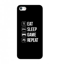 "Чехол для Apple iPhone с принтом ""Eat-sleep-game-repeat"""