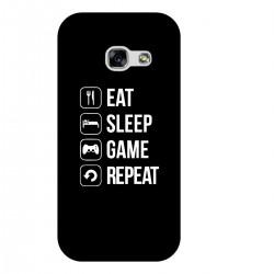 """Чехол для Samsung с принтом """"Eat-sleep-game-repeat"""""""