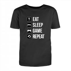 """Футболка с принтом """"Eat-sleep-game-repeat"""""""