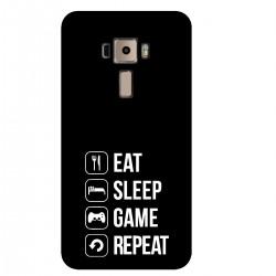 """Чехол для Asus с принтом """"Eat-sleep-game-repeat"""""""