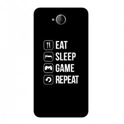 "Чехол для Microsoft с принтом ""Eat-sleep-game-repeat"""