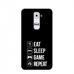 "Чехол для LG с принтом ""Eat-sleep-game-repeat"""