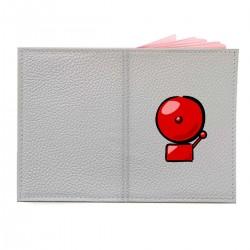 """Обложка на паспорт с принтом """"Пожарная сигнализация"""""""