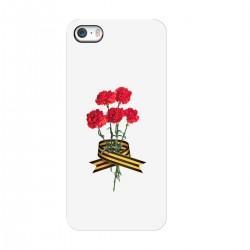 """Чехол для Apple iPhone с принтом """"Гвоздики и Георгиевская лента"""""""