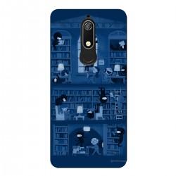 """Чехол для Nokia с принтом """"Ночь в библиотеке"""""""