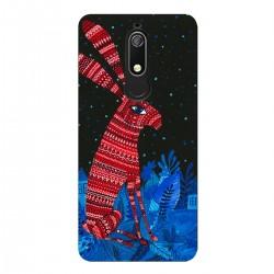 """Чехол для Nokia с принтом """"Полночный красный заяц"""""""