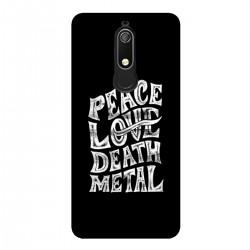 """Чехол для Nokia с принтом """"Peace. Love. Dead. Metal"""""""