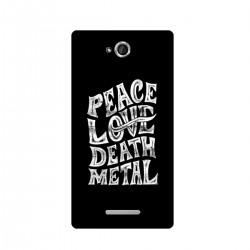 "Чехол для Sony с принтом ""Peace. Love. Dead. Metal"""