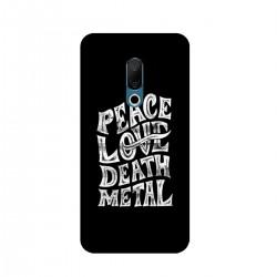 "Чехол для Meizu с принтом ""Peace. Love. Dead. Metal"""