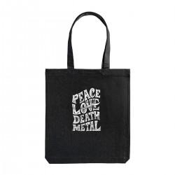 """Сумка холщовая с принтом """"Peace. Love. Dead. Metal"""""""