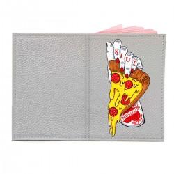 """Обложка на паспорт с принтом """"Неприличная пицца"""""""