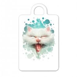 """Брелок с принтом """"Белый кот"""""""