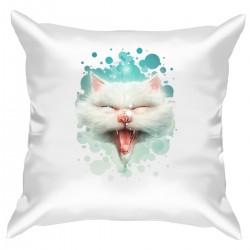 """Подушка с принтом """"Белый кот"""""""