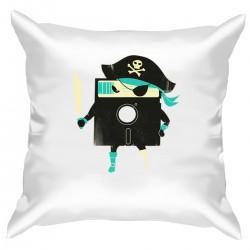 """Подушка с принтом """"Пиратская дискета"""""""