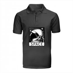 """Поло с принтом """"Spaceman"""""""
