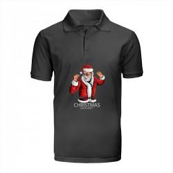 """Поло с принтом """"Санта отжигает"""""""