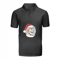 """Поло с принтом """"I am Santa"""""""