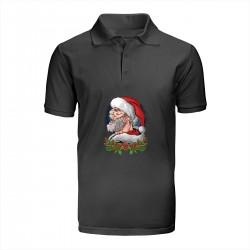 """Поло с принтом """"Mr. Santa"""""""