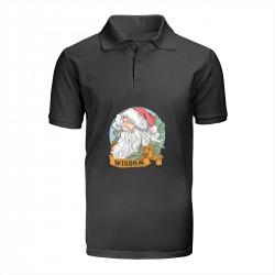 """Поло с принтом """"Мудрый Санта"""""""