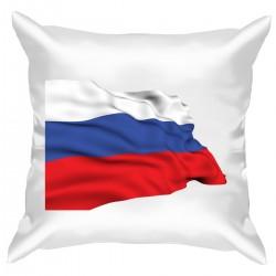 """Подушка с принтом """"Флаг России"""""""