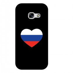 """Чехол для Samsung с принтом """"Сердце-триколор"""""""