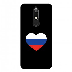 """Чехол для Nokia с принтом """"Сердце-триколор"""""""