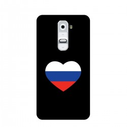 """Чехол для LG с принтом """"Сердце-триколор"""""""