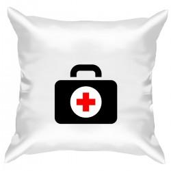 """Подушка с принтом """"Докторский чемоданчик"""""""