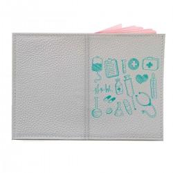 """Обложка на паспорт с принтом """"Медицинский набор"""""""