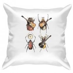 """Подушка с принтом """"The Beetles"""""""