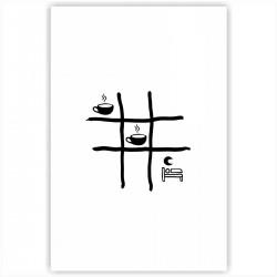 """Холст с принтом """"Крестики-нолики черные"""" (20x30cм)"""