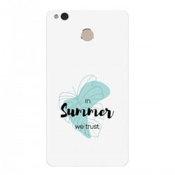 """Чехол для Xiaomi с принтом """"In summer we trust черный"""""""