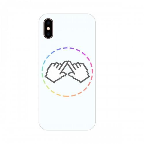"""Чехол для Apple iPhone X с принтом """"Логотип"""""""
