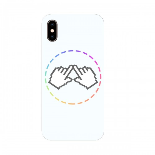 "Чехол для Apple iPhone XS с принтом ""Логотип"""