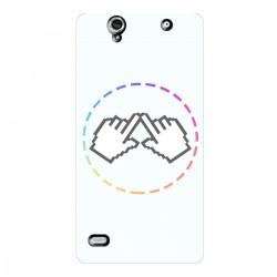 "Чехол для Sony Xperia C4 с принтом ""Логотип"""