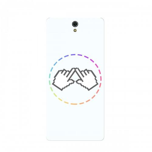 "Чехол для Sony Xperia C5 Ultra/C5 Ultra Dual_Cherry с принтом ""Логотип"""